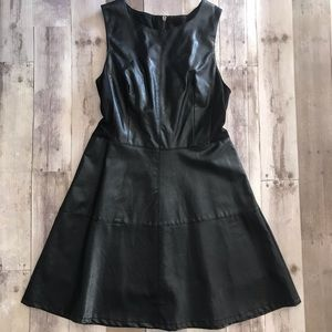 F21 Black Faux Leather Dress